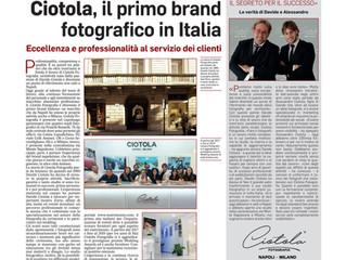 CIOTOLA, IL PRIMO BRAND FOTOGRAFICO IN ITALIA SUL MATTINO