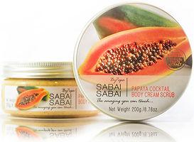 Body Cream Scrub Papaya Cocktail