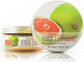 Body Cream Scrub Stress Away Pinky Grapefruit