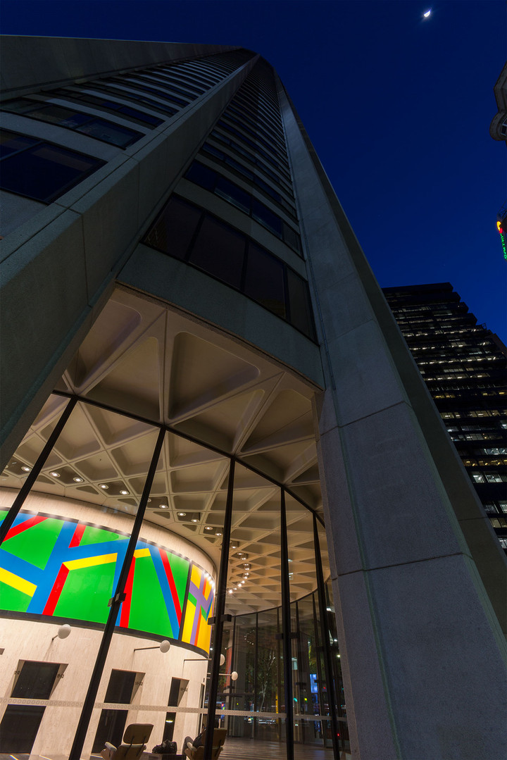 Australia Square building featuring Sol Le Witt artwork