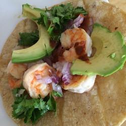 Shrimp tacos!