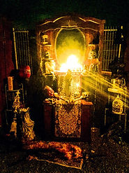 Containment Haunted House voodoo alter