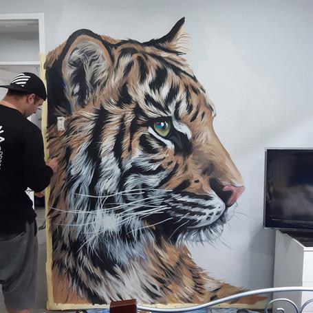 Tiger - 2m x 2m - Acrylic - 2020