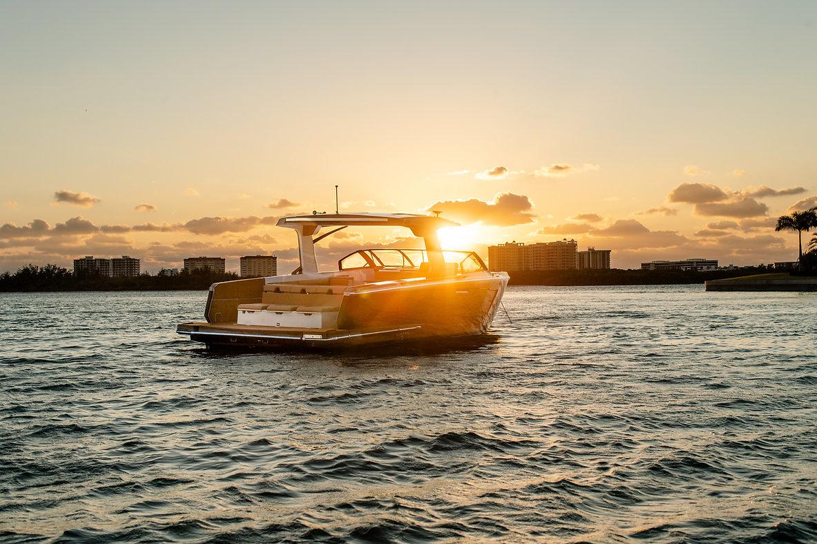 aviara mastercraft luxury day boat commercial photoshoot florida ocean