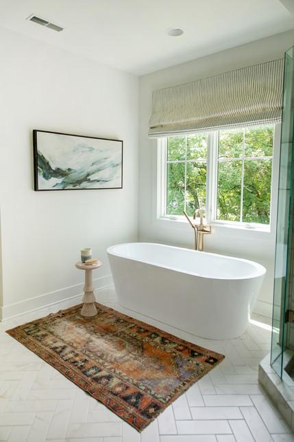 bishop design modern vintage spa bath