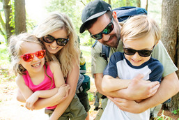 family hocking hills brand photoshoot sunglasses luxottica
