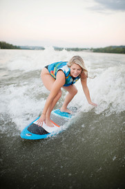 girl wake boarding lake norris brand photography mastercraft commercial photoshoot