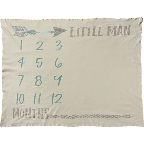Milestone Blanket - Little Man