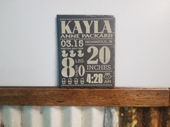 Slate Baby Stat Plaque