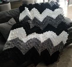 Handmade Chevron Blanket