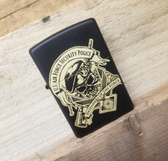 Zippo Lighter in Matte Black Finish