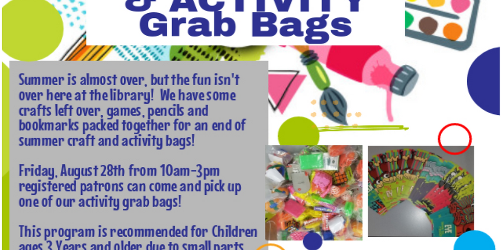 End of Summer Craft & Activity Bags