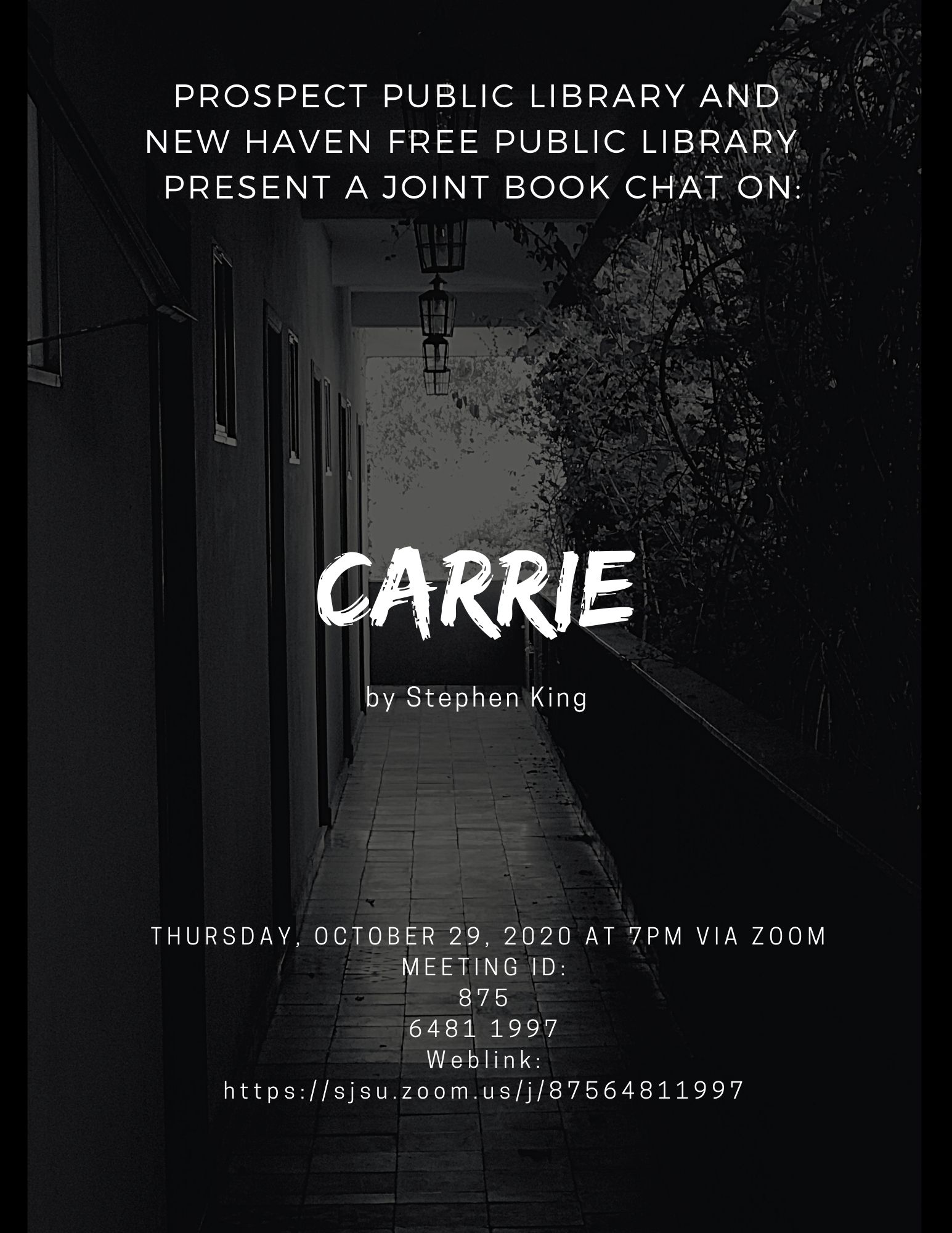 Carrie Flyer October Joint Book Chat PPL