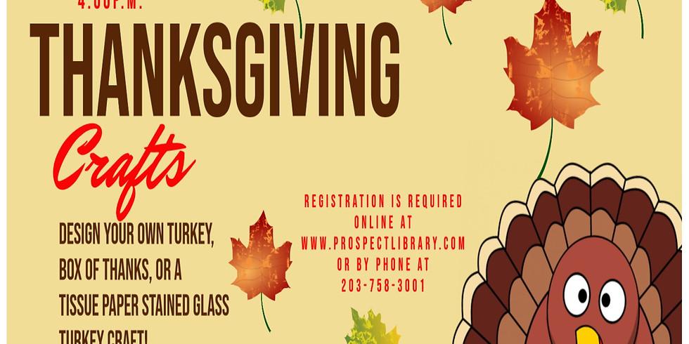 Children's Thanksgiving Craft Time