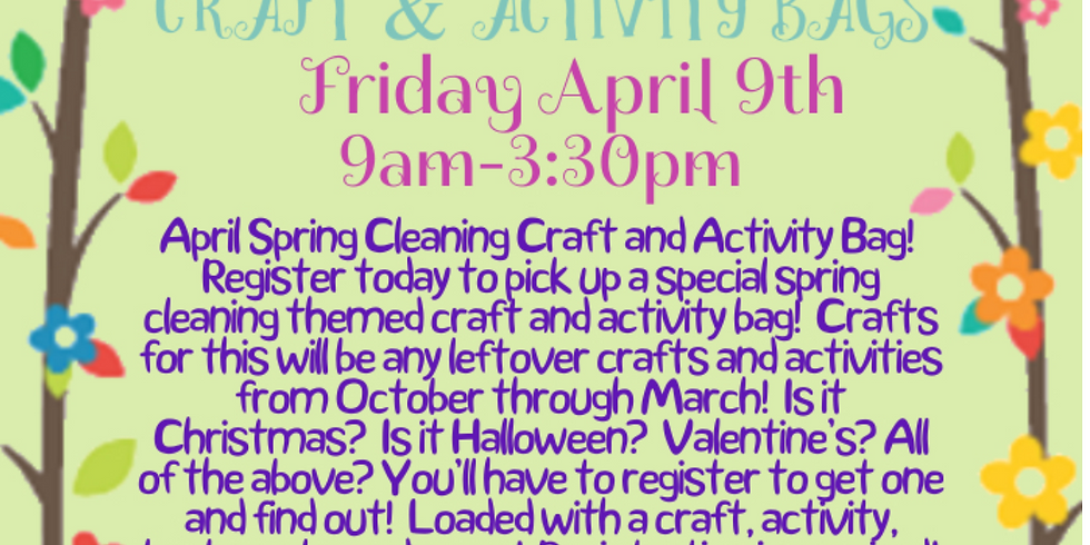 Spring Craft & Activity Bags