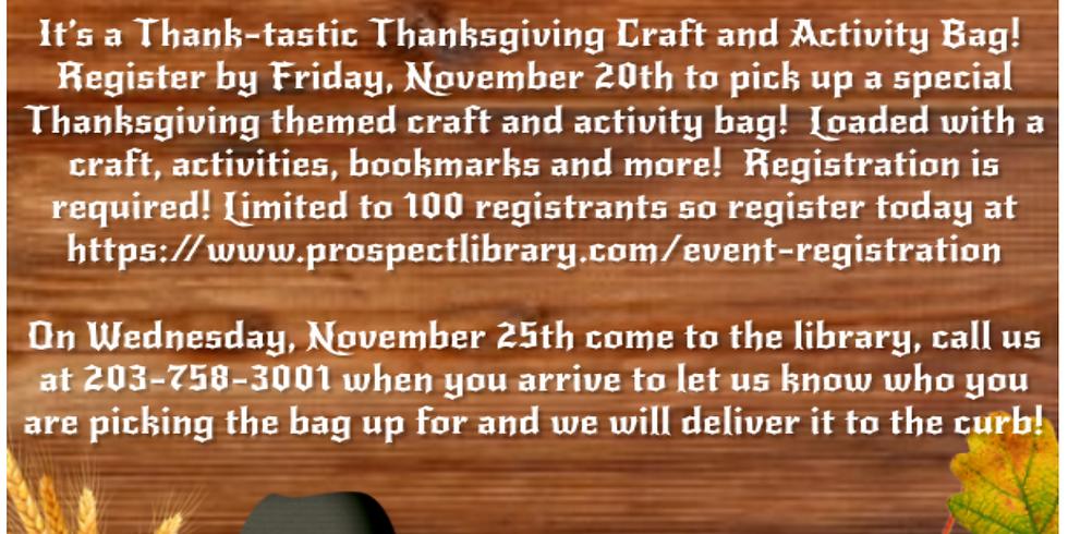Thank-tastic Thanksgiving Craft & Activity Bag