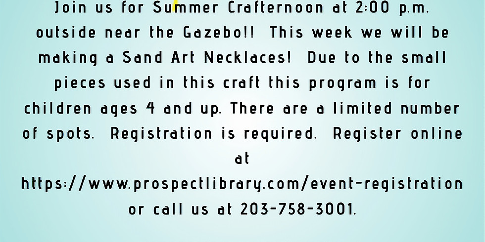 Crafternoon:  Sand Art necklaces