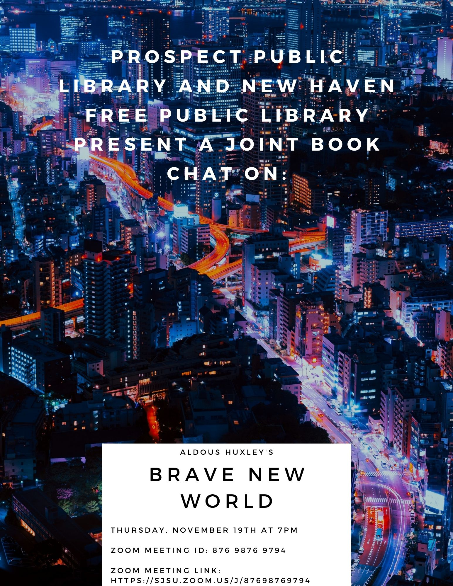Brave New World November Joint Book Chat