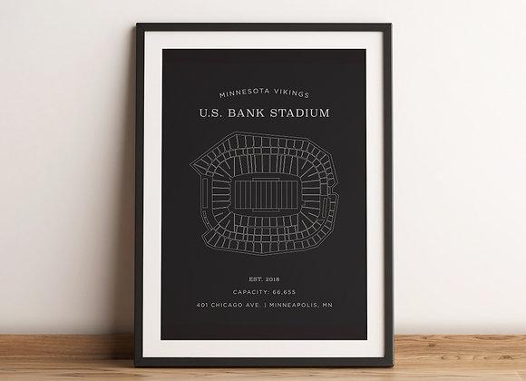US Bank Stadium Print - Grey