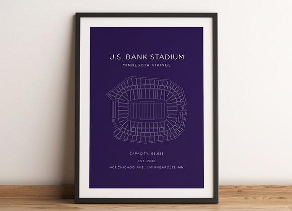 US Bank Stadium Print - Purple