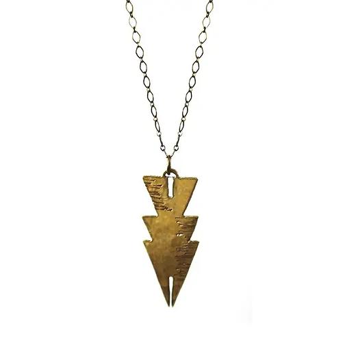 Jemez Necklace | Modern Bohemian Brass Artisan Pendant