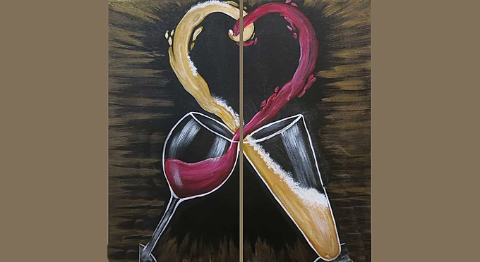 Valentines Day Couples Paint & Sip!