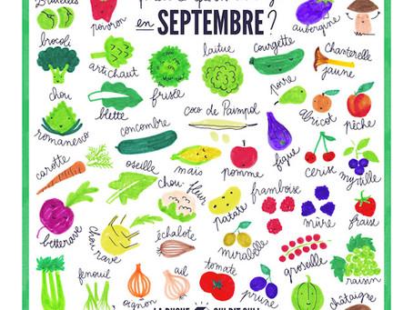 Qu'est-ce qu'on mange en septembre ?