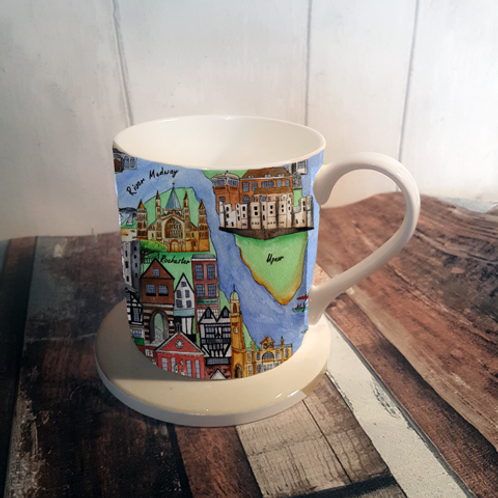 My Medway Bone China Mug & Coaster Set