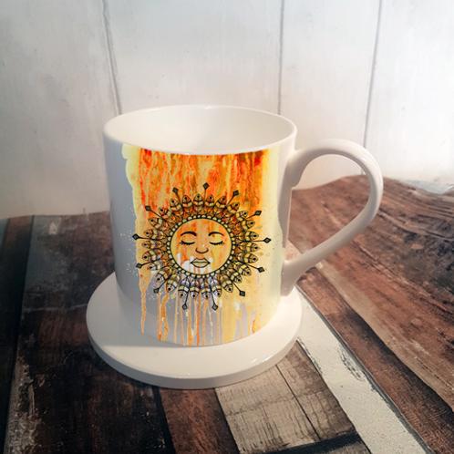 Rise with the Sun Bone China Mug & Coaster Set