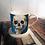 Thumbnail: Blue Skull Bone China Mug & Coaster Set