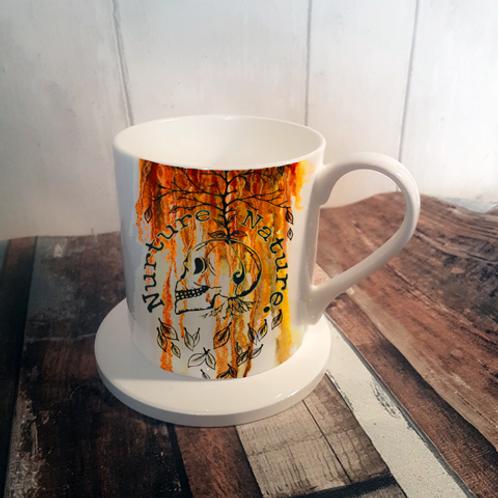 Nuture Nature Autumn Bone China Mug & Coaster Set