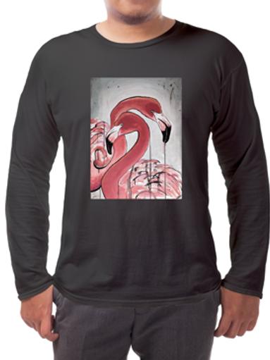Flamingos Long-sleeved Tee's