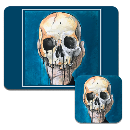 Blue Skull Placemats
