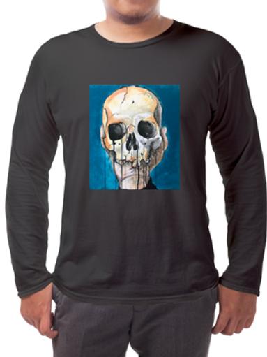 Blue Skull Long-sleeved Tee's