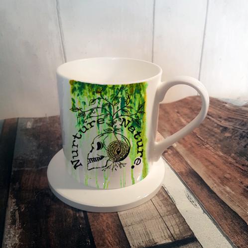 Nuture Nature Summer Bone China Mug & Coaster Set