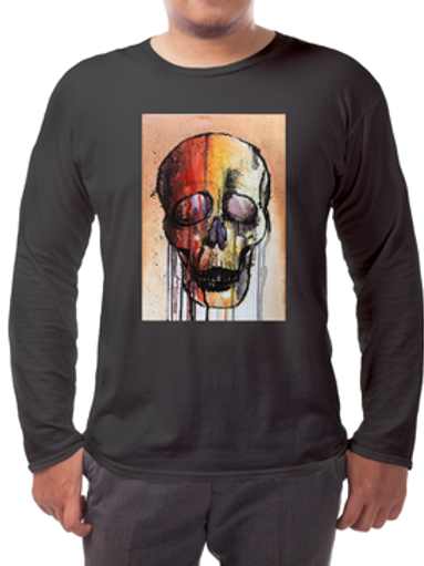 Colourful Skull Long-sleeved Tee's