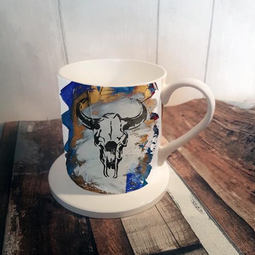 Blue Sid Bone China Mug & Coaster Set