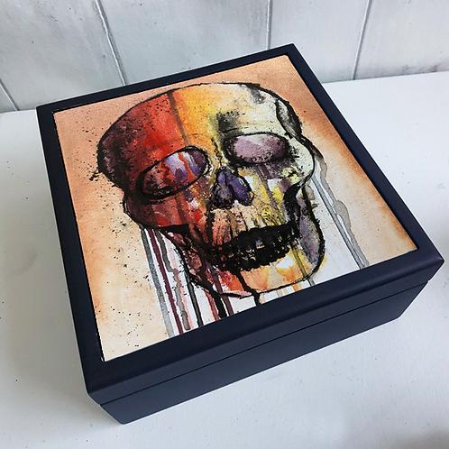 Colourful Skull Jewellery Box