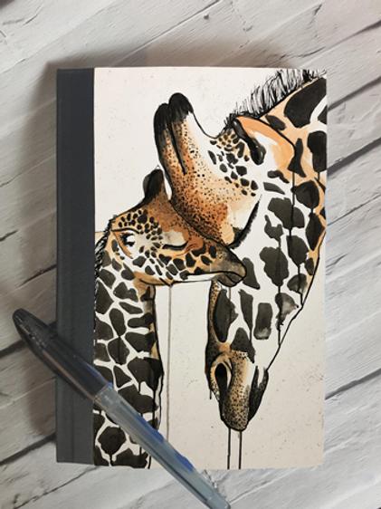 Giraffe Love Notebook
