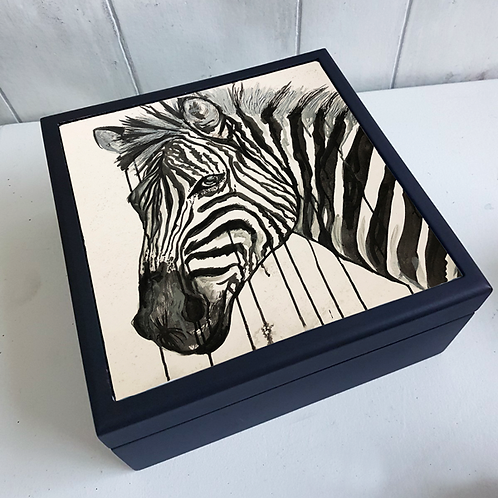 Zebra Jewellery Box