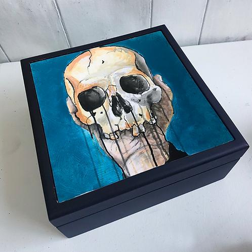 Blue Skull Jewellery Box