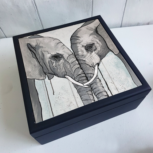 Elephants Jewellery Box