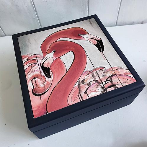 Flamingos Jewellery Box