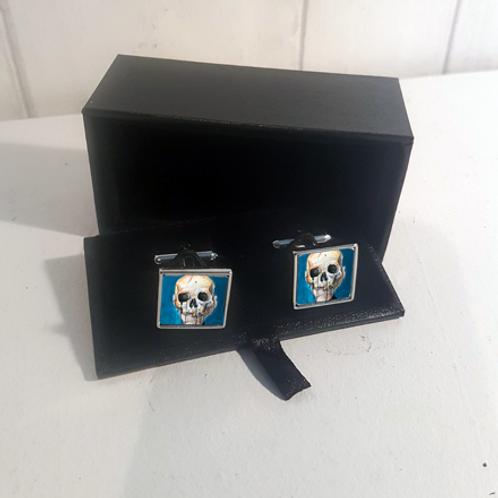 Blue Skull Cufflinks