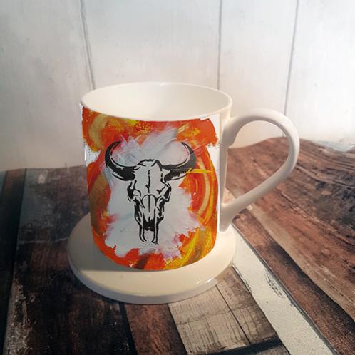 Orange Sid Bone China Mug & Coaster Set