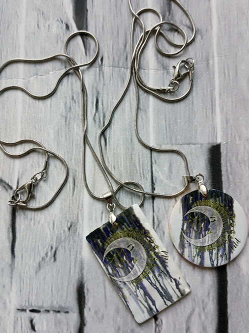 Set with Moon Necklace