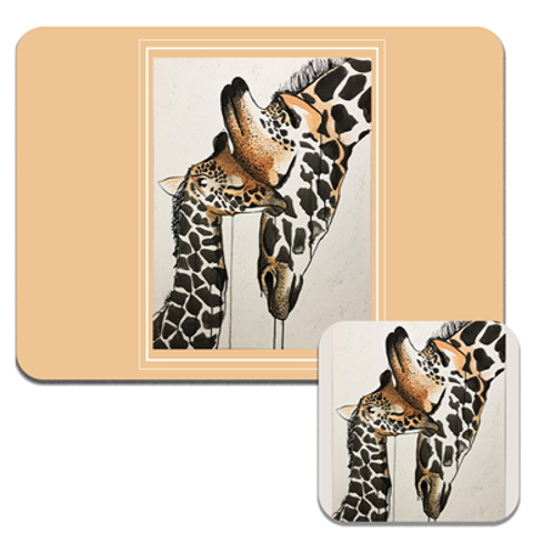 Giraffe Love Coasters