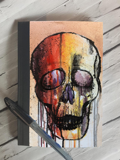 Colourful Skull Notebook