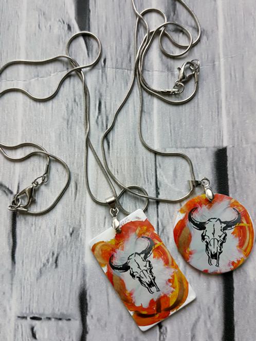Orange Sid Necklace