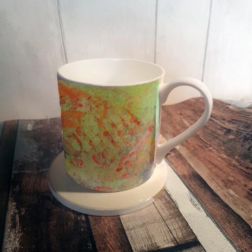 Summer Vestige Bone China Mug & Coaster Set